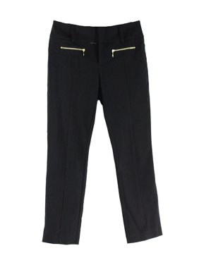 5ca2fb94e773 Product Image INC NEW Black Womens Size 4 Straight Leg Cropped Zipper  Detail Pants