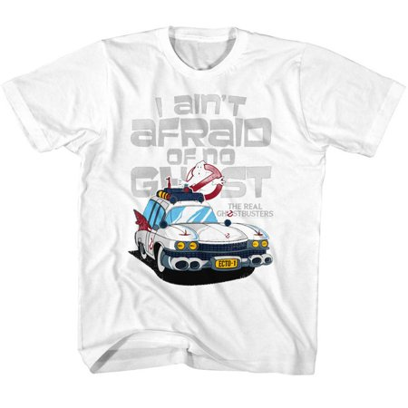 American Classics Real Ghostbusters AINT AFRAID White Child Unisex - Ghostbuster Kids