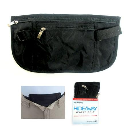 36b39060a6a4 Travel Money Belt RFID Security Wallet Waist Pack Hidden Pocket Safe Pouch  Black