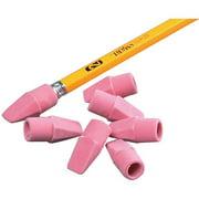 School Smart Wedge Cap Pencil Tip Erasers, Pink, 144 Count