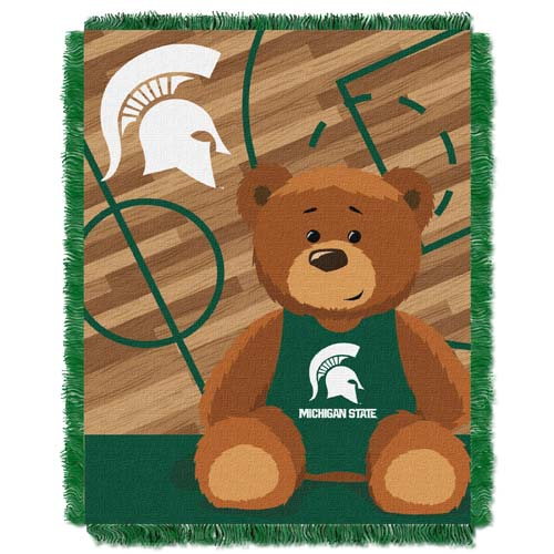 Michigan State Jacquard BABY Throw Blanket