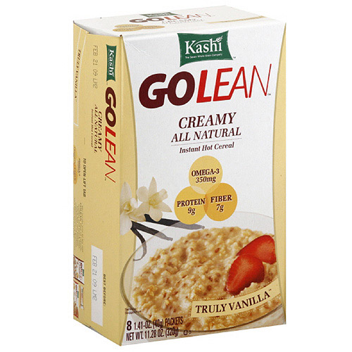 Kashi Golean Hearty Vanilla Instant Oatmeal, 11.28 oz (Pack of 6)