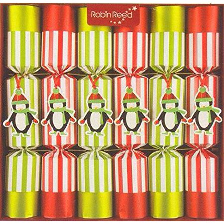 Robin Reed English Holiday Christmas Crackers, Pack of 6 - Racing Penguins ()