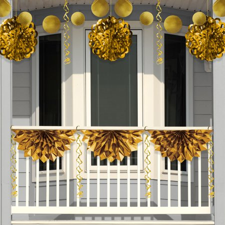 Gold Foil Party Decoration Kit - Gold Decorations