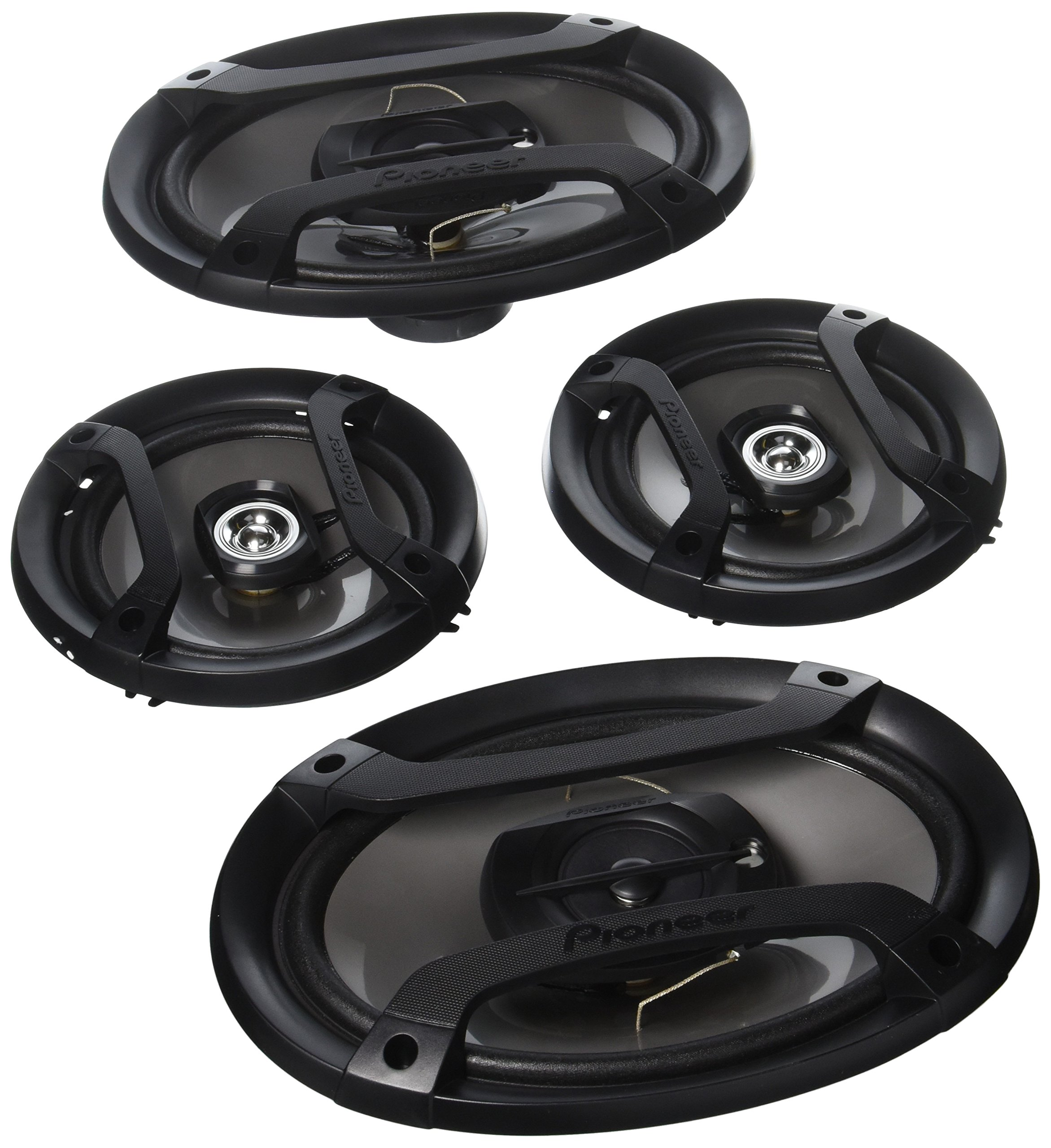 """Pioneer TS-165P + TS-695P Two Pairs 200W 6.5"""" + 230W 6x9"""" Car Audio 4 Ohm Component Speakers"""
