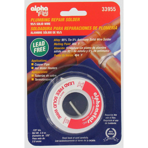Fry Technologies Cookson Elect AM33955 95/5 Lead-Free Solid Wire Solder