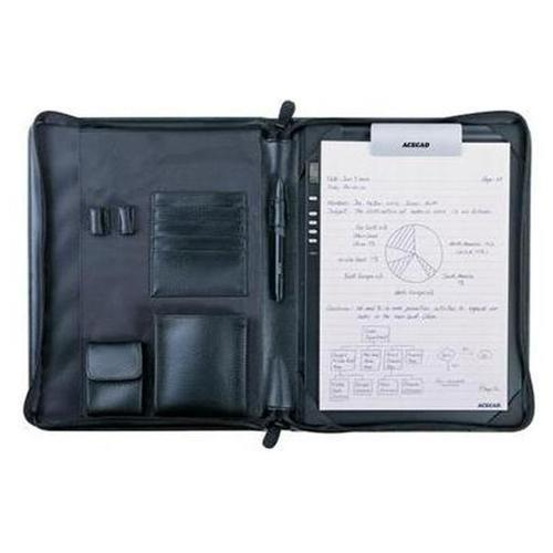 Solidtek Dm-pf200 Ace Cad Pf200 Deluxe Zip Portfolio For Digimemo - Book Fold - Synthetic Leather - Black - Digital Pad Case (dmpf200)