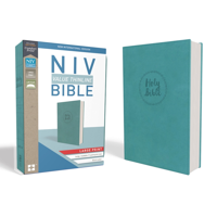NIV, Value Thinline Bible, Large Print, Imitation Leather, Blue (Hardcover)