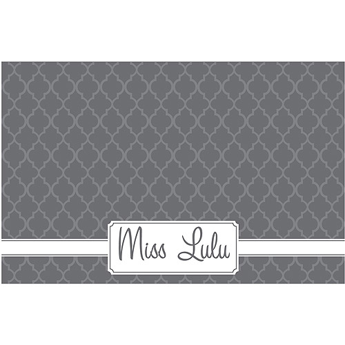 Personalized Kitty Placemat, Gray
