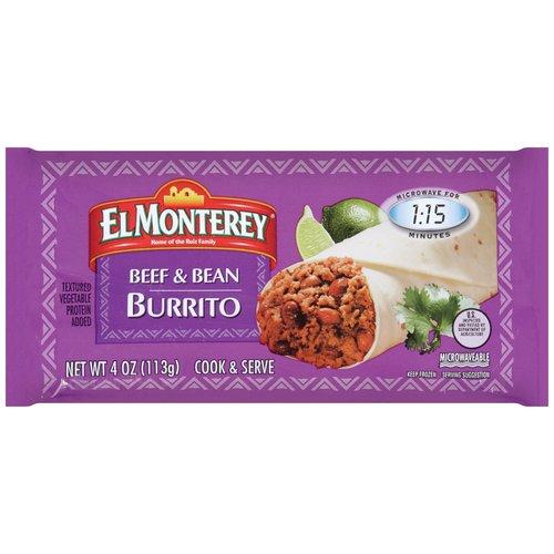 El Monterey Beef & Bean Burrito, 4 oz