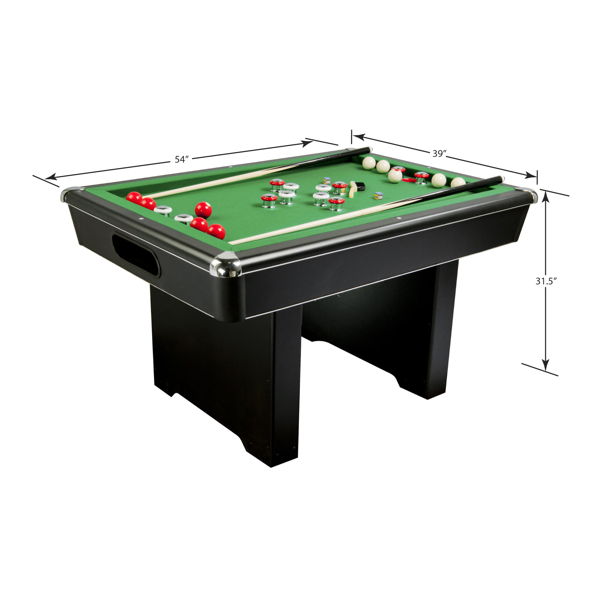 Hathaway Renegade Slate Bumper Pool Table, 54-In, Green - Walmart