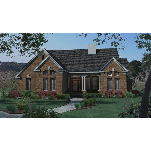 TheHouseDesigners-5771 Colonial House Plan with Slab Foundation (5 Printed Sets)