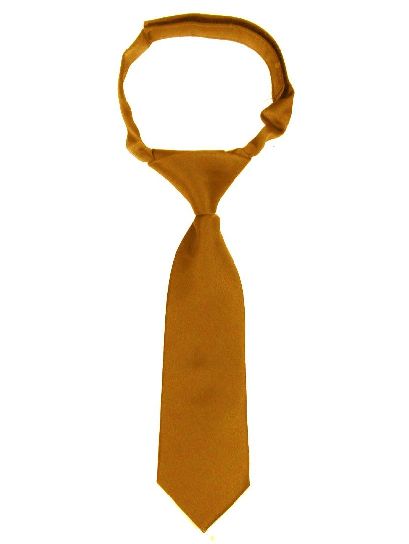 Bronze Infants Velcro Necktie