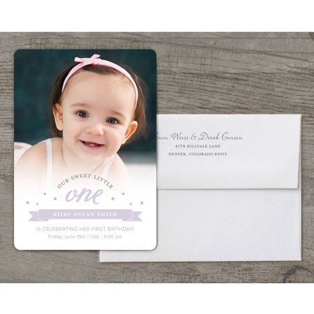 Sweet Little One Deluxe Birthday First Invitation