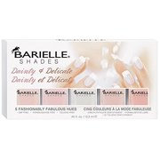 Barielle Delicate and Dainty Nail Polish, Five Various Shades, 2.25 Ounce