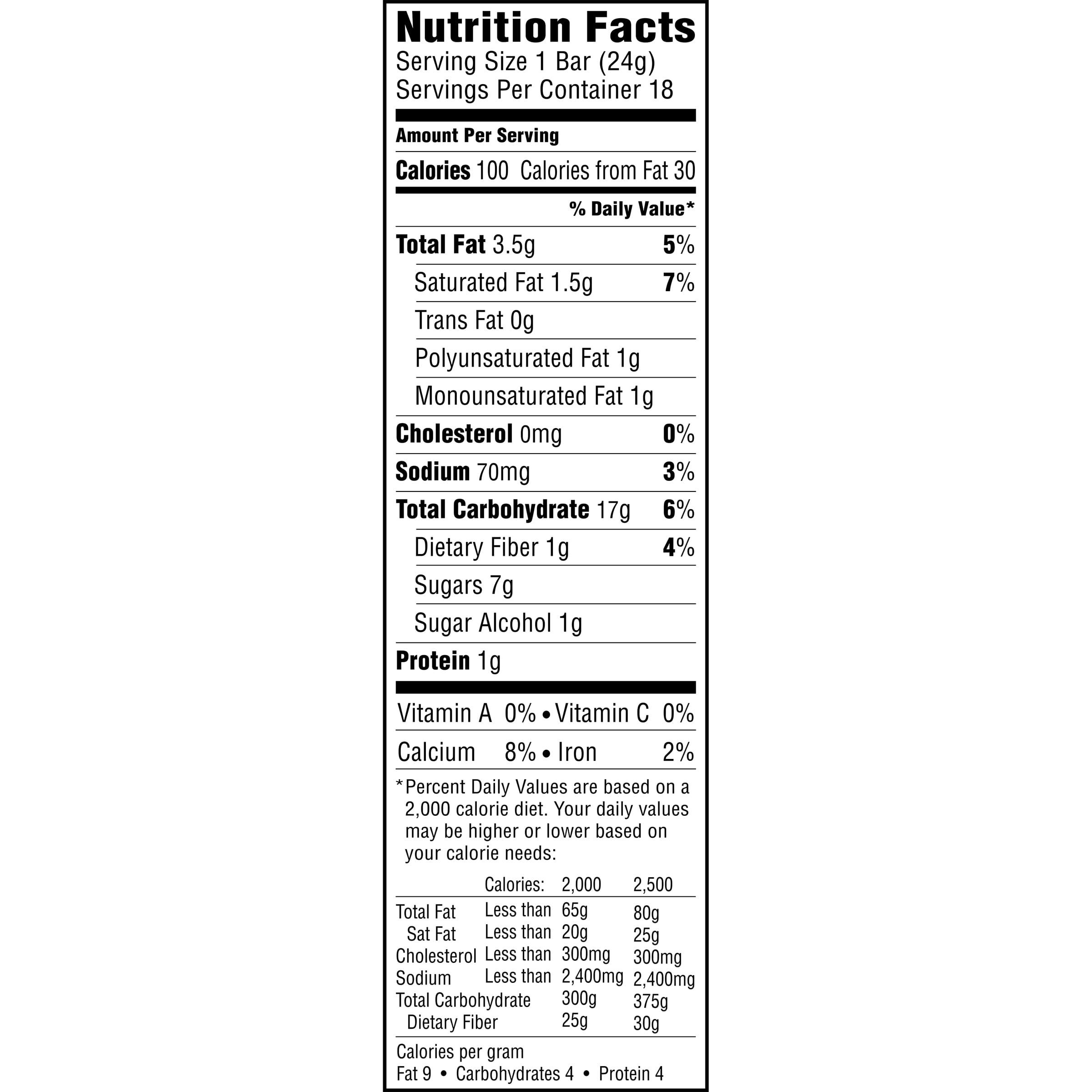 Quaker Oats Granola Bars Nutrition Facts - Nutrition Ftempo Quaker Granola Bars Nutrition Facts