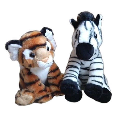 BENGAL TIGER & ZEBRA Destination Nation Small Animal Plush by Aurora World Bengal Tiger Stuffed Animal