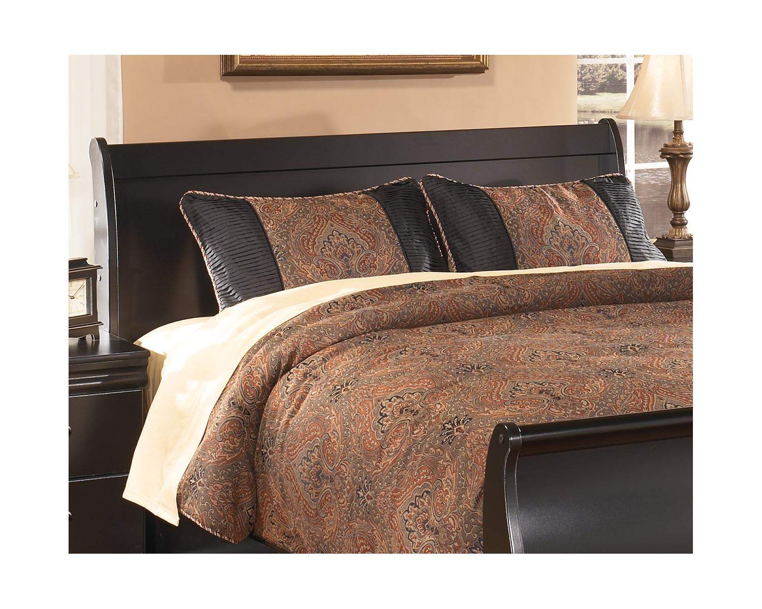 Picture of: Signature Design By Ashley Huey Vineyard Black Queen Sleigh Headboard Walmart Com Walmart Com
