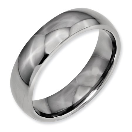 Titanium 6mm Wedding Ring Band Size 13.50 Classic Domed Fashion Jewelry Gifts For Women For Her - image 5 de 11