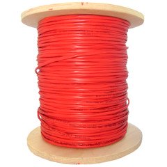 Bulk Plenum Zipcord Fiber Optic Cable, Multimode, Duplex, 62.5/125, Orange, Spool, 1000 foot