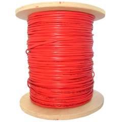 CableWholesale's Bulk Zipcord Fiber Optic Cable, Multimode, Duplex, 62.5/125, Orange, Riser Rated, Spool, 1000 foot