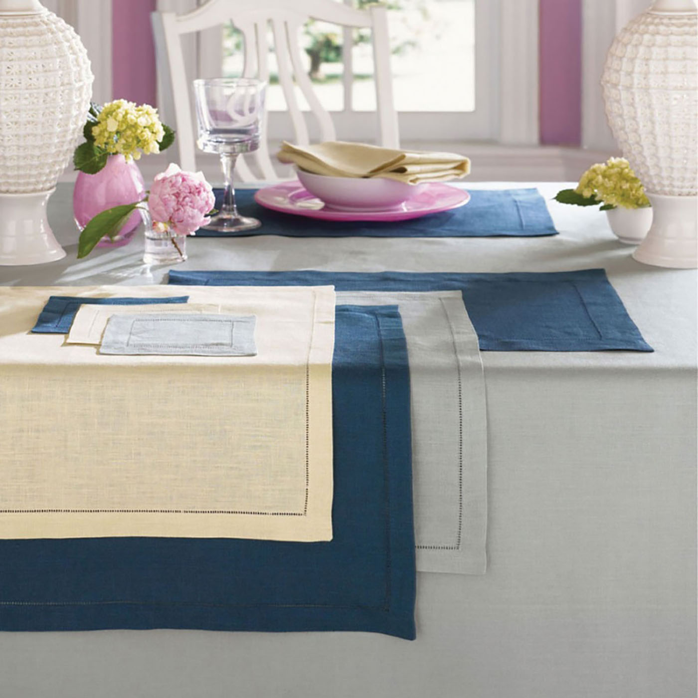 Festival by Sferra - Square Tablecloth 54x54 (Oyster)