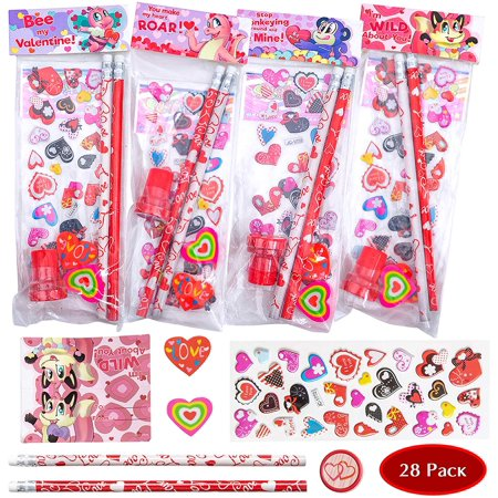 Toy Story Valentine Cards 28 Pack Assorted Valentines Day Stationery Kids Gift Set Valentine Classroom Exchange Party Favor Toy ToyZone