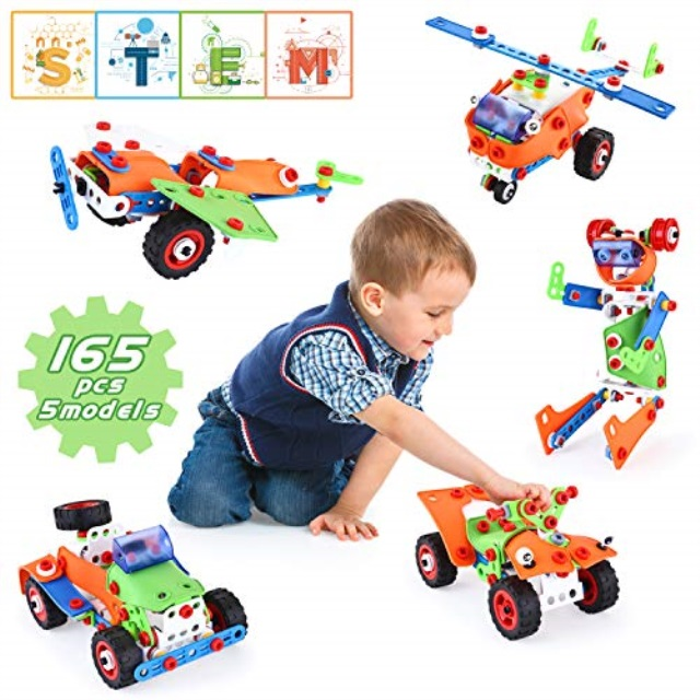 557 Pcs Fire Trucks Toys for 6 Year Old Boys Year Old Kids LUKAT STEM Building Toys for Kids Educational Toys Gift for Age 6 7 8 9 10 25-in-1 Engineering Building Blocks Construction Vehicles Kit