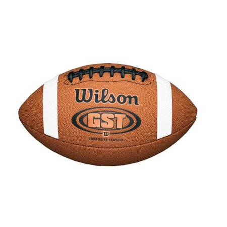 Mcfarlane Ncaa College Football (Wilson GST Composite Junior-Game Ball, Official game ball of NCAA college football, with Wilson's exclusive deep pebbled composite leather By Wilson Sporting Goods Team from USA)