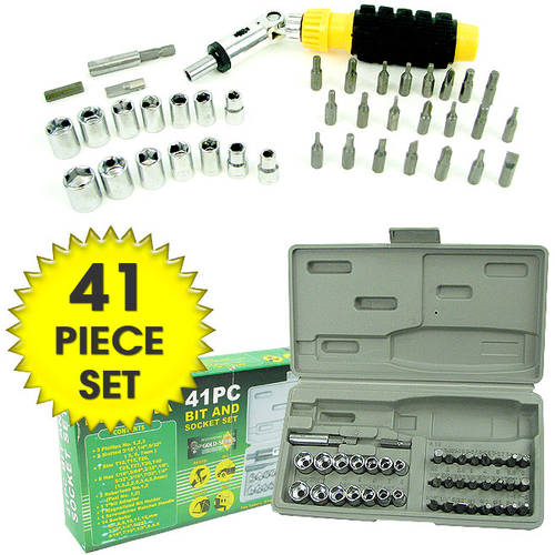 Stalwart 41-Piece Professional Screwdriver Bit and Socket Set