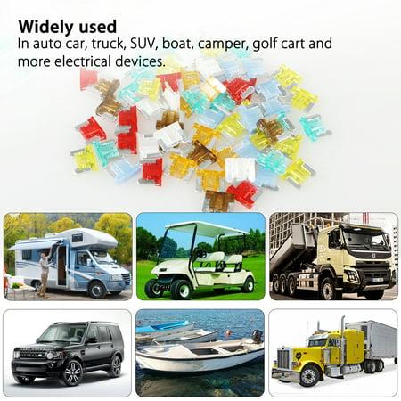 EEEKit 120 Pieces Car Truck Boat Fuse Assortment Kit 5, 7.5, 10, 15, 20, 25, 30 AMP Mini Small ATM/APM Blade (120 Piece Car Fuse)