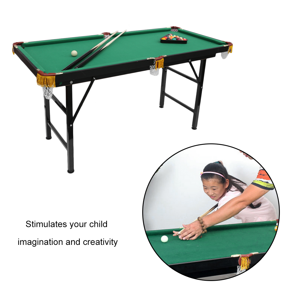 Ping Pong Table Mini Foldable Pool Table Portable Billiard Table With Cues  Balls Best Children Boy