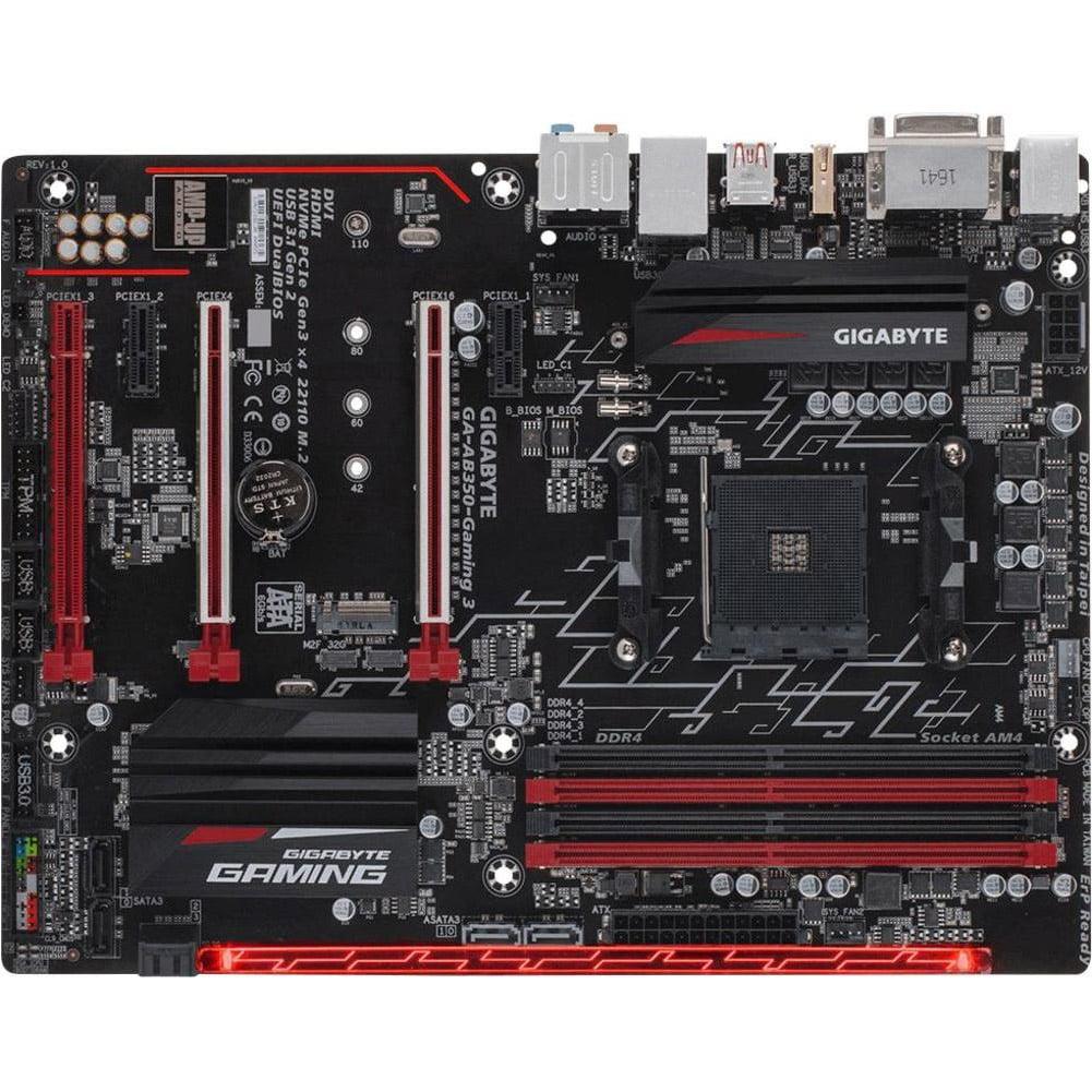 Gigabyte GA-AB350-Gaming 3 AM4 AMD B350 DDR4 RGB Fusion ATX Motherboard