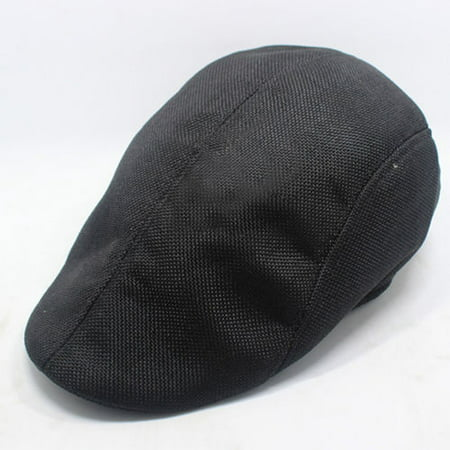 Mens Linen Flax Newsboy Gatsby Cap Ivy Hat Golf Drivers Director Flat Cabbie (Cadet Newsboy Cap Hat)