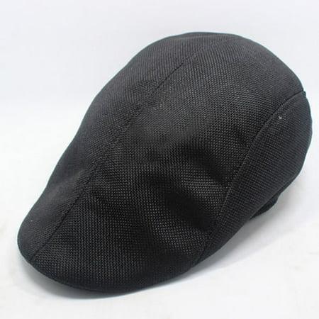 Mens Linen Flax Newsboy Gatsby Cap Ivy Hat Golf Drivers Director Flat Cabbie Hat