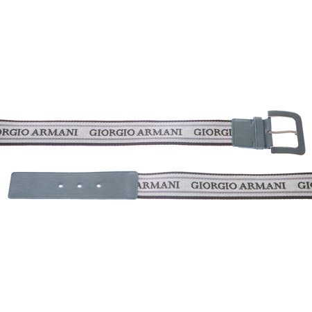 Giorgio Armani Women's Canvas Logo Jacquard Belt