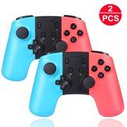 2PC/1PC Wireless Pro Controller Gamepad Joypad Joystick for Nintendo Switch/Switch Lite 2019, Wireless Remote Pro Controller Joypad Gamepad for Nintendo Switch Console Red & Blue