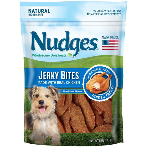 Nudges Dog Treats Jerky Bites Chicken, 5.0 OZ by Tyson Pet Products, Inc.