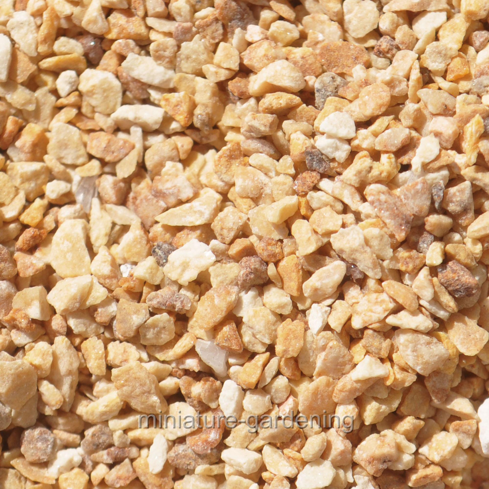 """Miami Beach Pebbles, Inc Zen Gravel 1/16"""" - 1 lb, Color Choices for Miniature Garden, Fairy Garden"""