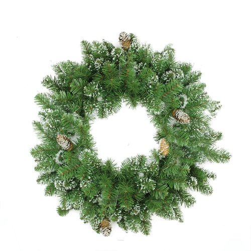 Northlight Seasonal 24'' Mixed Pine and Pine Cone Artificial Christmas Wreath