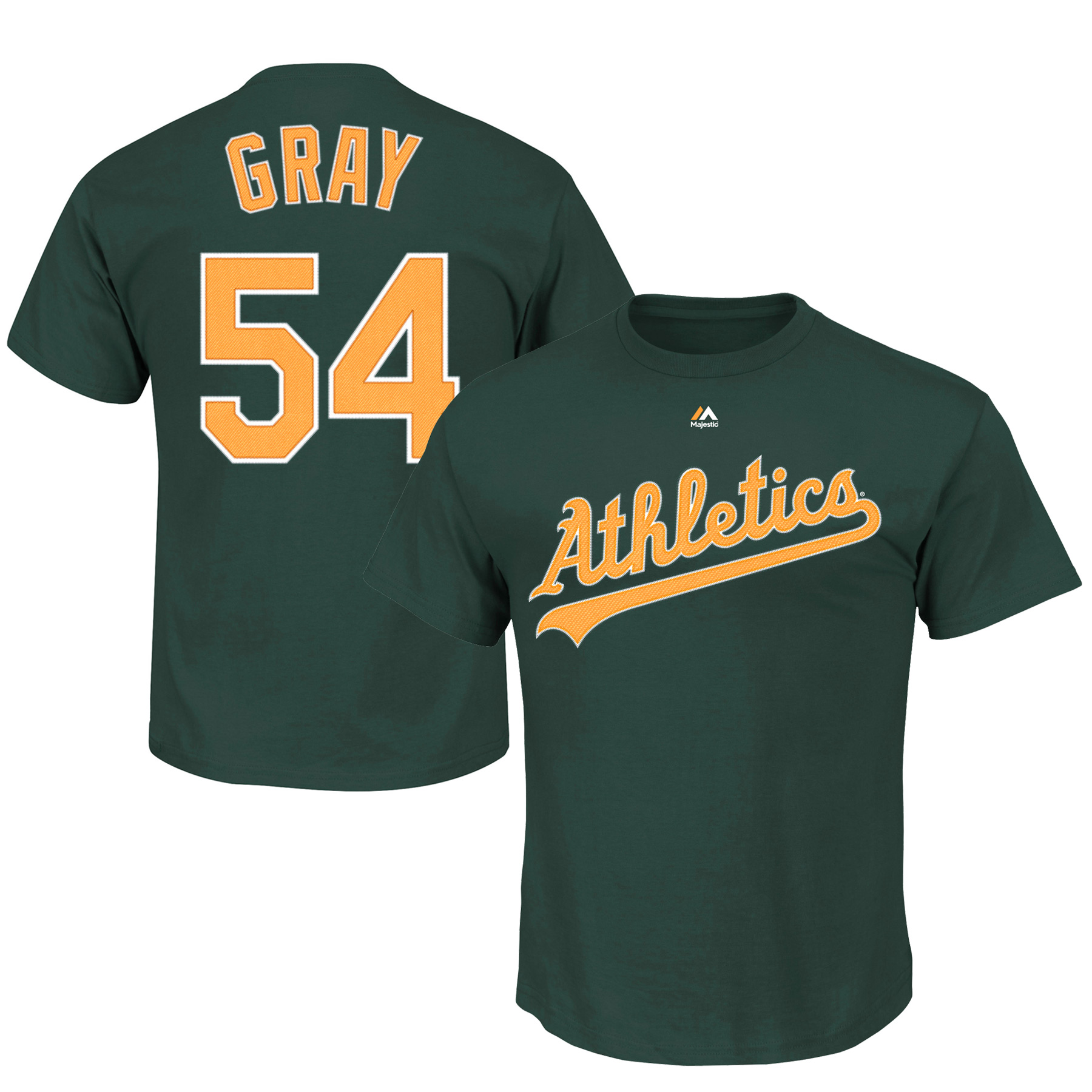 Sonny Gray Oakland Athletics Majestic Big & Tall Official Player T-Shirt - Green