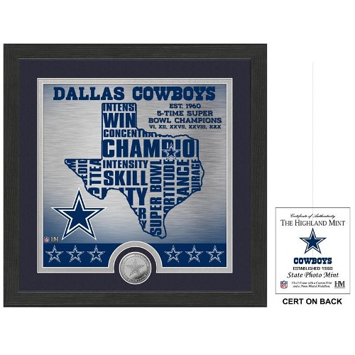 The Highland Mint Dallas Cowboys ''State'' Bronze Coin Photo Mint