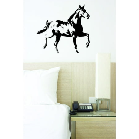 - Custom Wall Decal : Galloping Running Horse 12x18 Inches