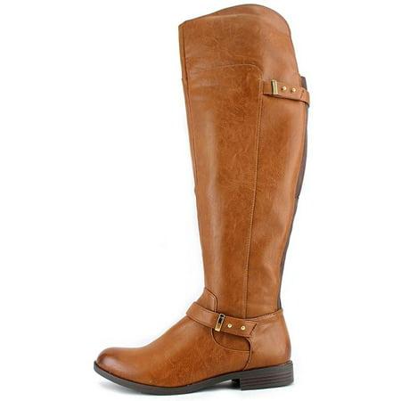 fc70451e4fdd Bar III - Bar III Women s Deidre Wide Calf Over the Knee Riding Boot -  Walmart.com