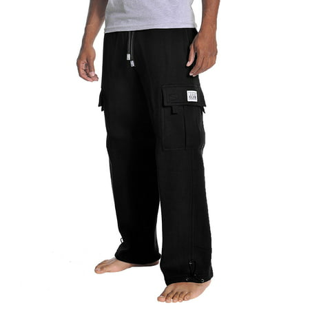 Pro Club Mens Cargo Sweatpants Heavy Weight Fleece Long Pants S-5XL Big and Tall ()