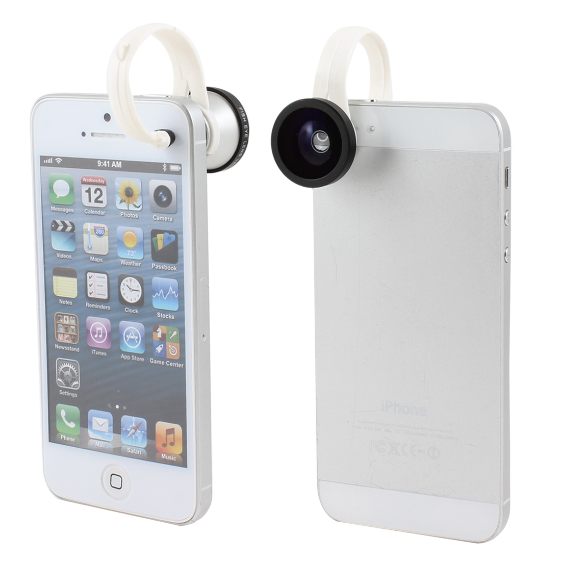 Cell Phone Tablet 180 Degree Fish Eye Fisheye Detachable Clip Camera Lens