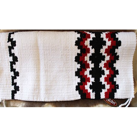34x36 Horse Wool Western Show Trail SADDLE BLANKET Rodeo Pad Rug White 3632