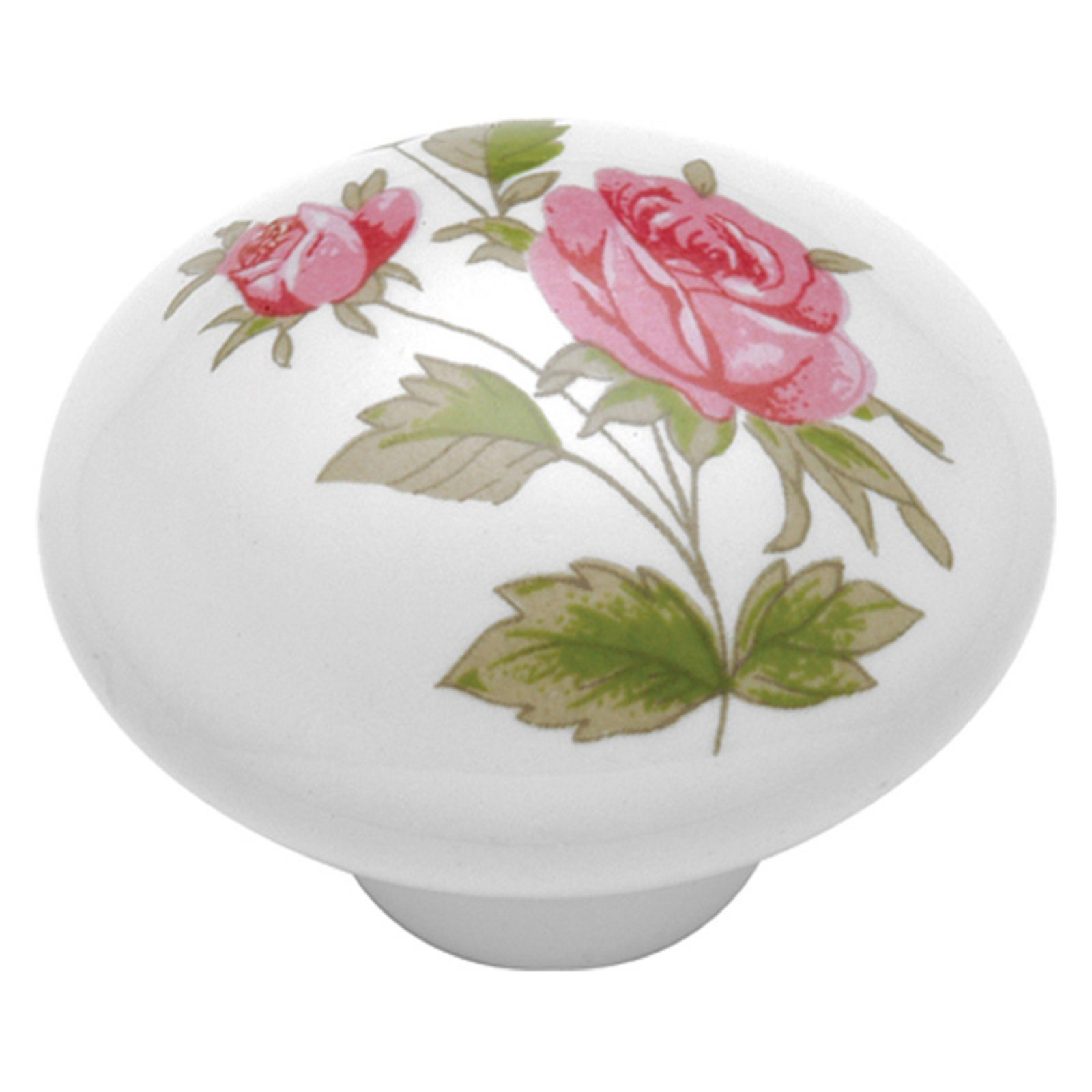 Hickory Hardware English Cozy Pink Rose Cabinet Knob