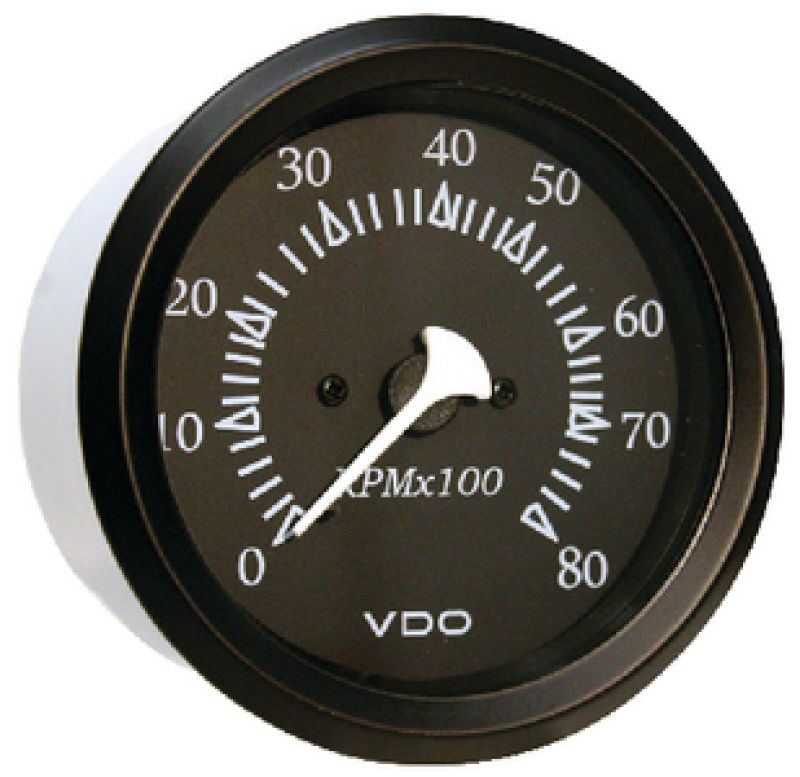 "Seachoice 15251 Series Gauges 0-8,000 RPM 3-3/8"" Tachometer for Outboard"
