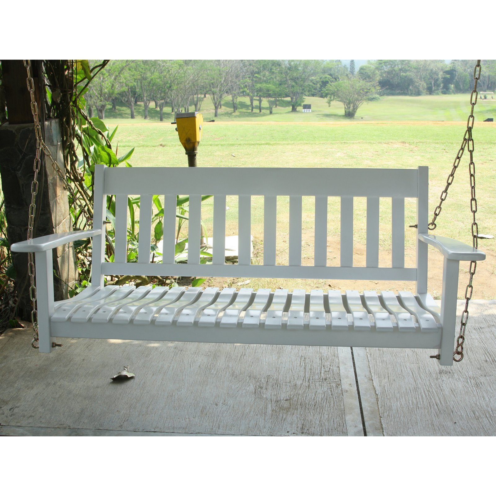 Cambridge Casual 52 in. All-Weather Wood Porch Swing White by Overstock